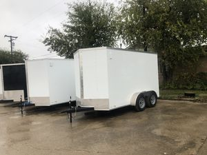 Enclosed cargo trailer 6x12 tandem axle for Sale in DeSoto, TX