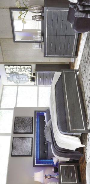 🍀[SPECIAL] Lodanna Gray LED Panel Bedroom Set byAshley 🍀 for Sale in Jessup, MD