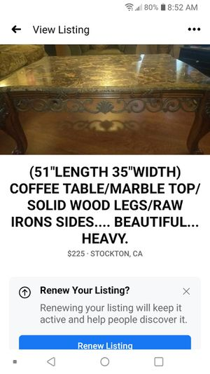 COFFEE TABLE/INFORMATION IN PHOTO...$225 for Sale in Stockton, CA