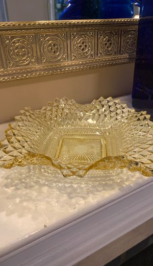 Beautiful yellow glass Candy dish for Sale in Franklin, TN