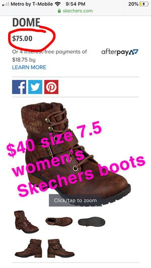 New women's Skechers boots size 7.5 for Sale in Banning, CA