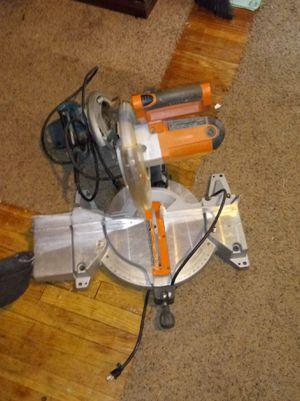 gray and orange Ridgid miter saw for Sale in Detroit, MI