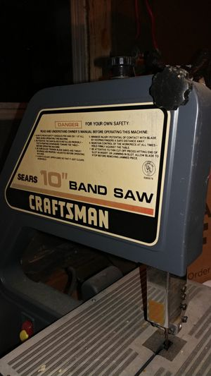"Craftsmen 10"" band and aquarium also canop3 for Sale in Nutter Fort, WV"