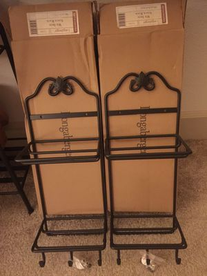 Longaberger wrought iron stack a racks for Sale in Everett, WA