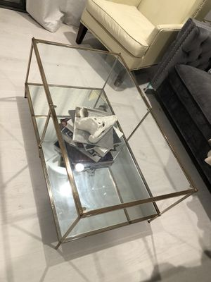 Gold / glass / mirror coffee table for Sale in Las Vegas, NV