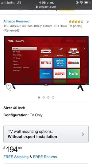 Smart tv roku TCL for Sale in Cudahy, CA