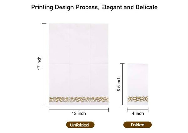 100 PACK Disposable Hand Towels, Decorative Bathroom Napkins, Soft and Absorbent Linen-Feel Paper Guest Towels for Kitchen