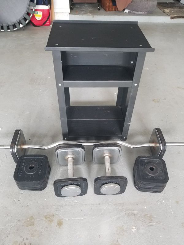 Iron Master weight bench set.
