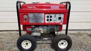 5500 WATTS POWER PRO GENERATOR ALMOST NEW WORKING PERFECT for Sale in Pompano Beach, FL