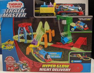 Thomas and Friends Track Master hyper glow w/ extra 35 pc. Bucket (Price not Negotiable) for Sale in Chino, CA