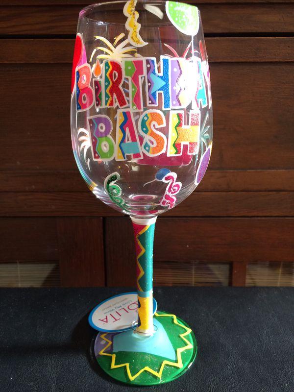 Lolita wine glass Birthday Bash