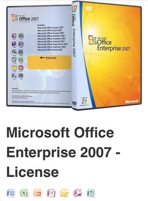 Microsoft office 2007 enterprise comes with every program for Sale in Bessemer, AL