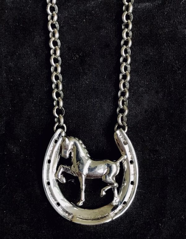 Devon Horse Show 'Sterling Silver Horse Pendant Necklace'