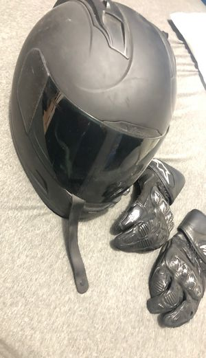2XL-Gloves and Icon Helmet for Sale in Los Angeles, CA