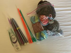 Knitting Supplies with 7 knitting needle pairs! for Sale in Elizabethton, TN