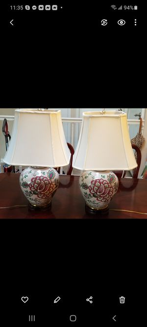 Beautiful Vintage Chinese Vase Table Night Lamps for Sale in Glen Ellyn, IL