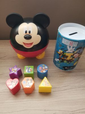 Disney's Mickey Mouse Shape Sorter Toy & Bank for Sale in Queens, NY