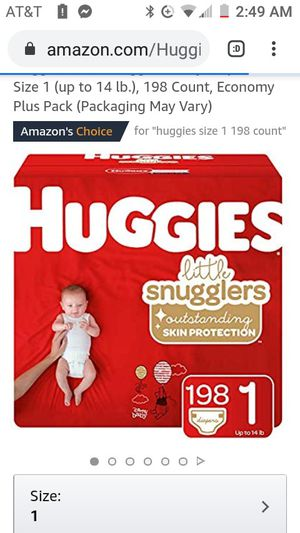 HUGGIES LITTLE SNUGGLERS (198) count for Sale in Chicago, IL