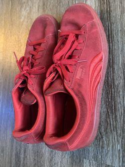 Puma Suede Triple Red// All Red Mens 10.5 for Sale in Marietta,  GA