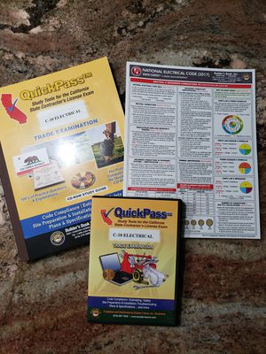QuickPass C-10 Electrical Study Tool/CD & Quick-Card for Sale in Fullerton, CA