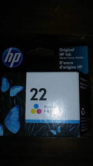 Hp ink tricolor 22 for Sale in Hardeeville, SC