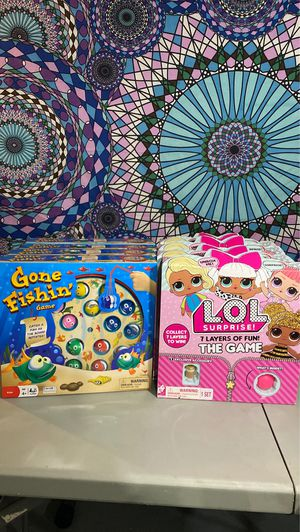 Gone fishing game & LOL surprise 7 layers of fun game for Sale in Des Plaines, IL