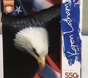 Karen Latham Eagle Forever Free 550 piece jigsaw puzzle for Sale in North Riverside,  IL