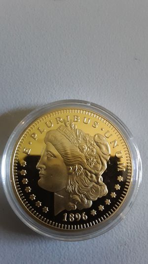 1896-S Gold Plated Morgan Silver Dollar Coin for Sale in Greenville, OH