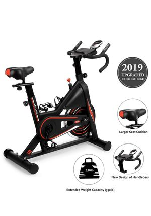 NEW!! DMASUN Exercise Bike, Indoor Cycling Bike Stationary, Comfortable Seat Cushion, Multi - Grips Handlebar, 42Lbs Flywheel Upgraded Version (Black) for Sale in Los Angeles, CA