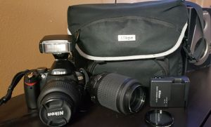 nikon digital camera d60 bundle for Sale in Hialeah, FL