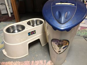 Dog bowl and food keeper for Sale in Lemont, IL