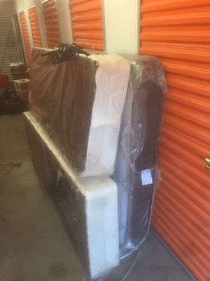 Queen mattress with boxes and bed frame for Sale in Philadelphia, PA