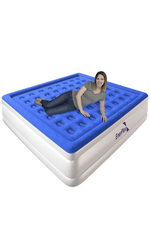 EnerPlex Never-Leak Queen Air Mattress with Built in Pump Raised Luxury Airbed Double High Queen Inflatable Bed Blow Up Bed 2-Year Warranty Manufactu for Sale in Rancho Cucamonga, CA