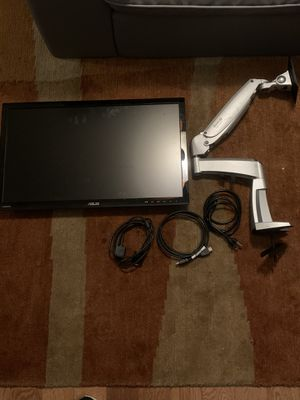 "Asus 24"" monitor w/ work rite ergonomic arm for Sale in Chandler, AZ"