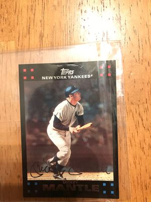 Mickey Mantle Topps baseball card for Sale in Midland Park, NJ