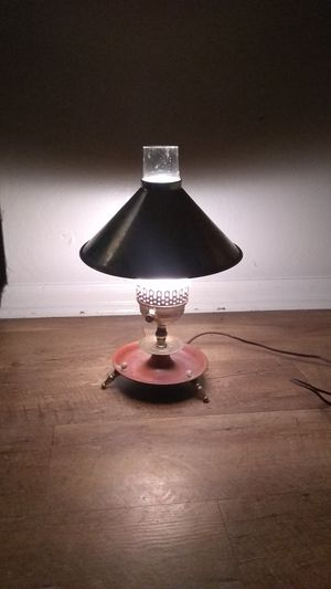 Vintage brass electric oil table light lamp lantern for Sale in McKeesport, PA