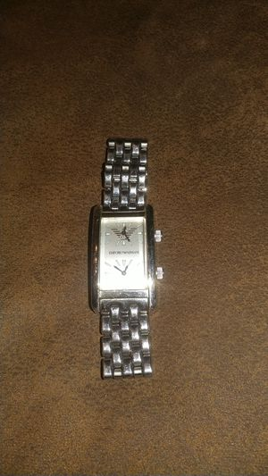 Mens Emporio Armani silver double face watch for Sale in Plano, TX