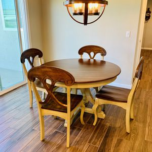 Pier 1 Marcella Round Dining Table & 4 Chairs for Sale in Ripon, CA