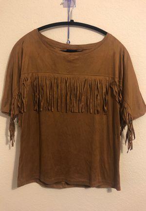 Rue 21 cute Tan fringed shirt. for Sale in Modesto, CA