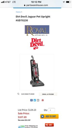 The Dirt Devil® Jaguar Pet UD70230 Upright Vacuum for Sale in Renton, WA