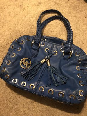 Michael Kors Blue Leather Purse / Handbag for Sale in Washington, DC