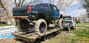 Chevy mud mega truck 350 engine 350 transmission trailer extra for Sale in Medina, OH