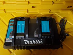 Makita 18-Volt Lithium-Ion Dual Port Rapid Optimum Charger With USB port for Sale in San Diego, CA