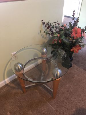 3 round glass tables for Sale in Aldie, VA