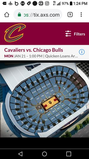 Tickets cavs vs bulls for Sale in Cleveland, OH