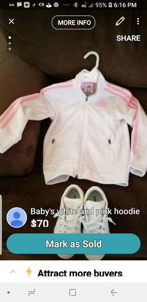 Adidas hoodie all white Chucks for Sale in Milton, PA