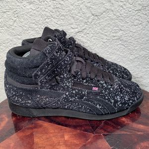 Reebok Freestyle High Top Reflective Sneakers Womens 8 for Sale in Philadelphia, PA
