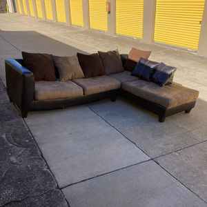 Leather based Sectional Free Delivery! for Sale in Raleigh, NC