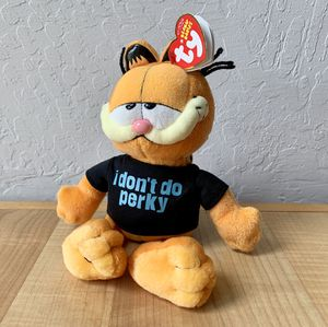 "TY Beanie Babies Garfield the Cat I Don't Do Perky 9"" Collectable Plush Toy for Sale in Elizabethtown, PA"