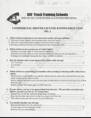 CDL Permit Test Answers for Sale in South Gate, CA
